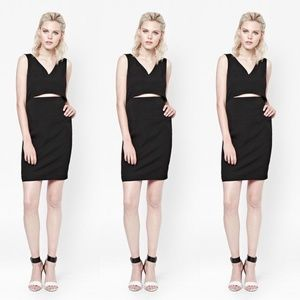 French Connection Dress Glamour Stretch Slit Cutou